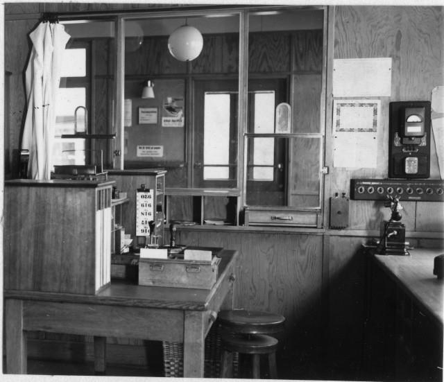 Nylands postområde. Väja poststation, interiör.