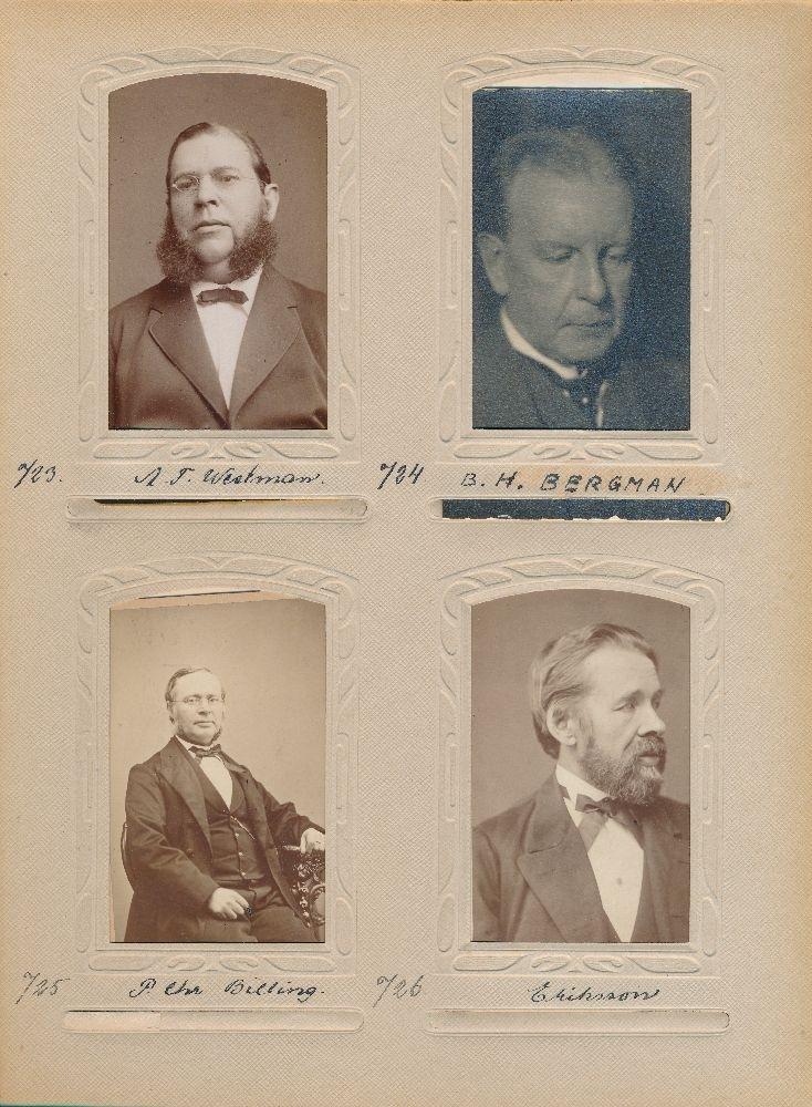 Porträtt av Bo Hjalmar Bergman, postexpeditör i Stockholm från 1905.