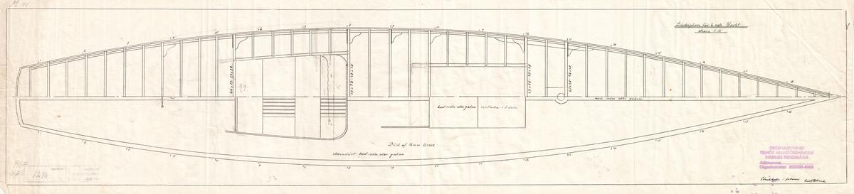 Byggnadsritning och layout i däcksplan