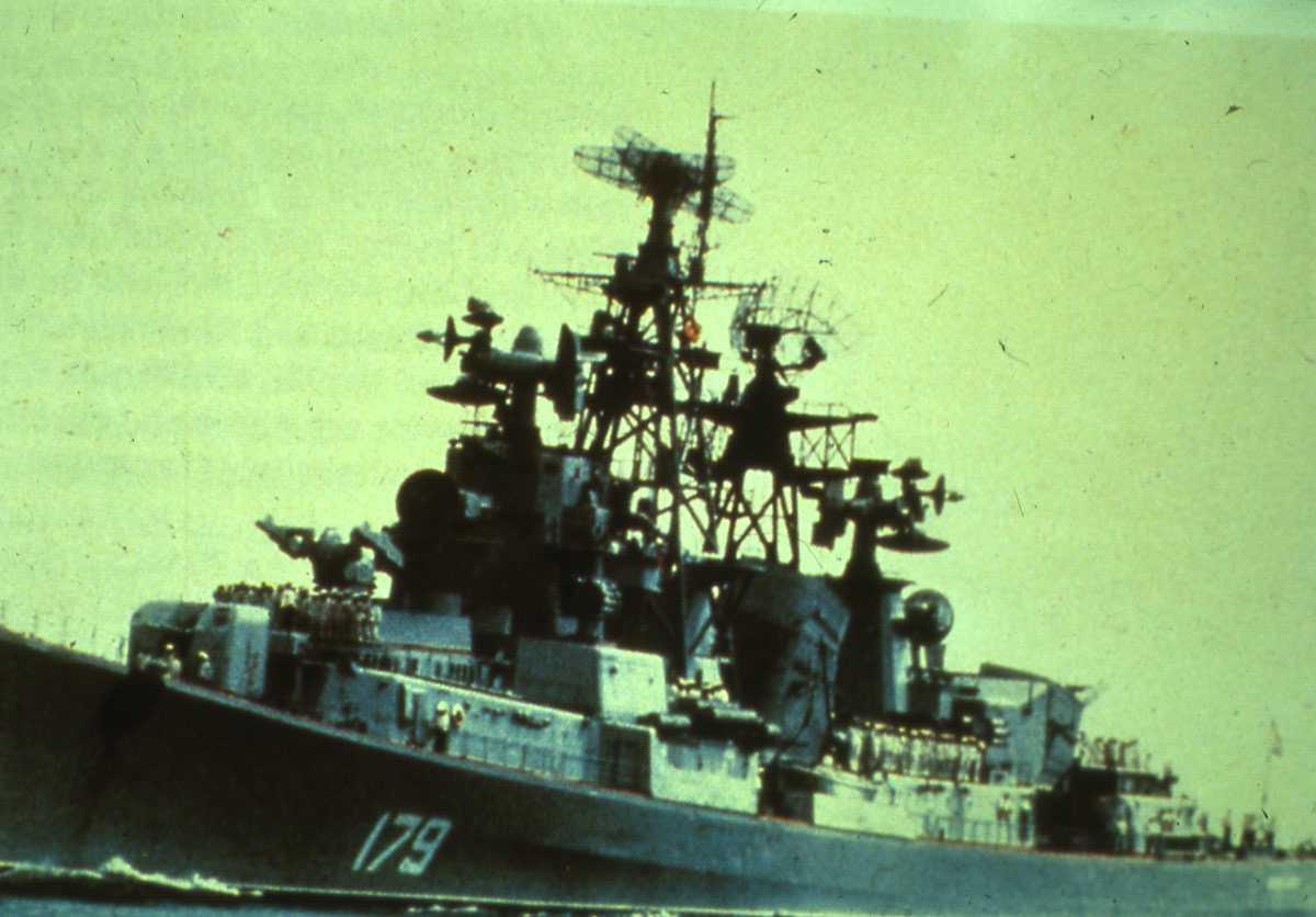 Russisk fartøy av Kashin - klasse med nr. 179.
