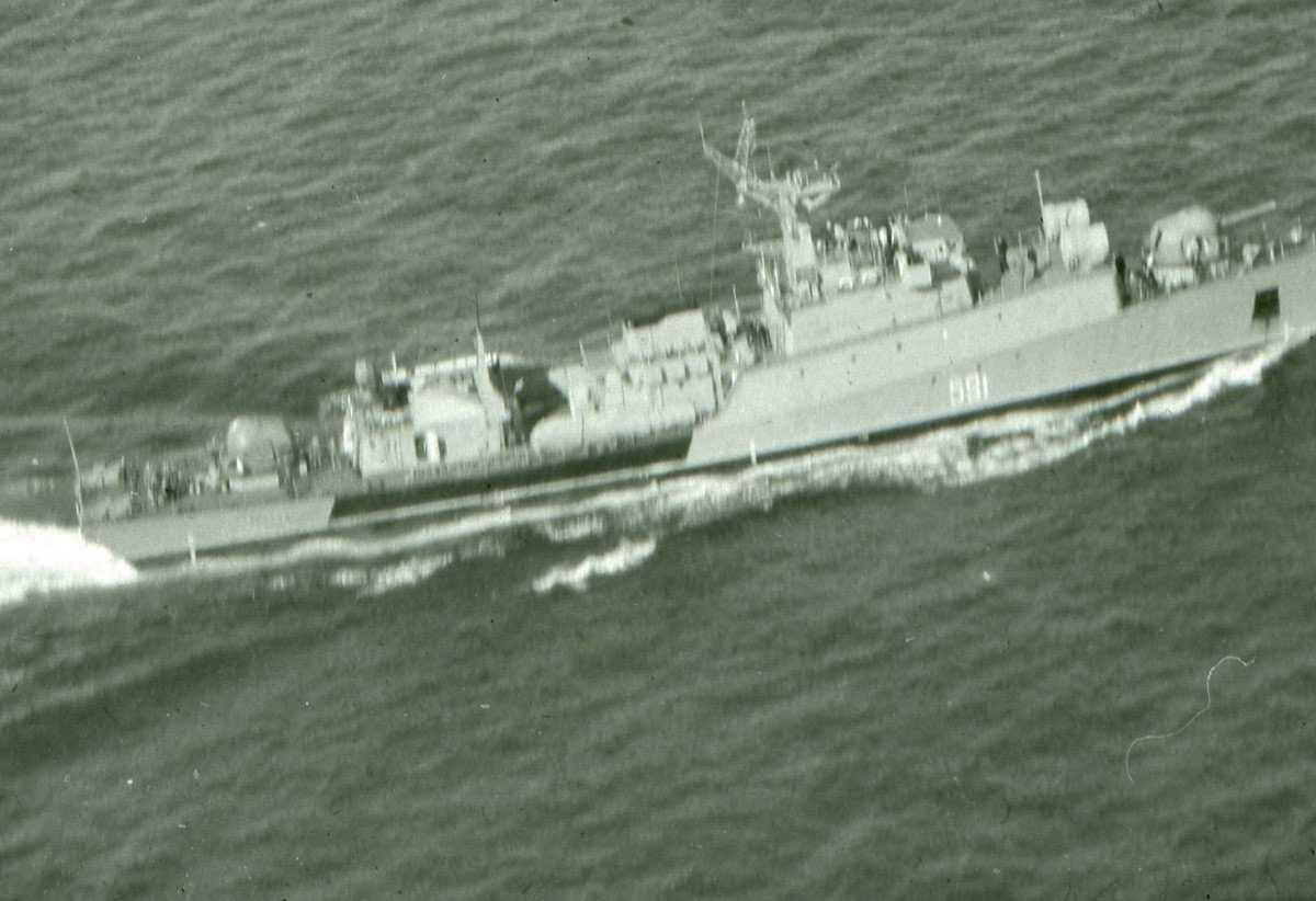 Russisk fartøy av Grisha II - klassen med nr. 591.