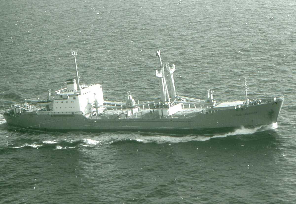 Russisk fartøy av Modifisert Irkutsk - klassen. Lastebåt.