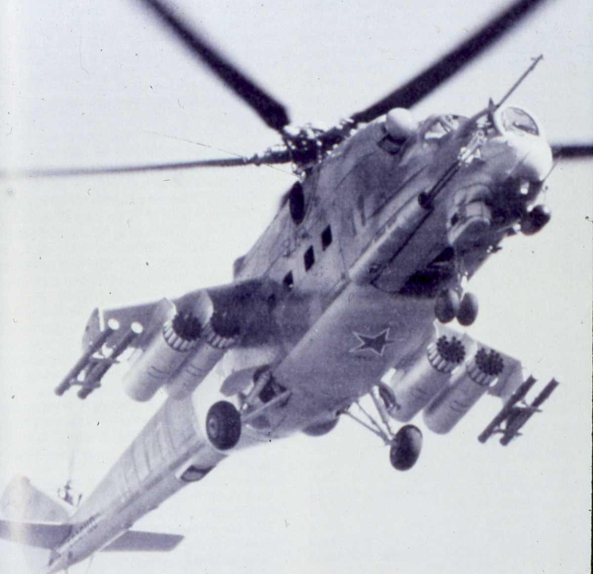 Russisk helikopter av typen Mil Mi-24P Hind F.