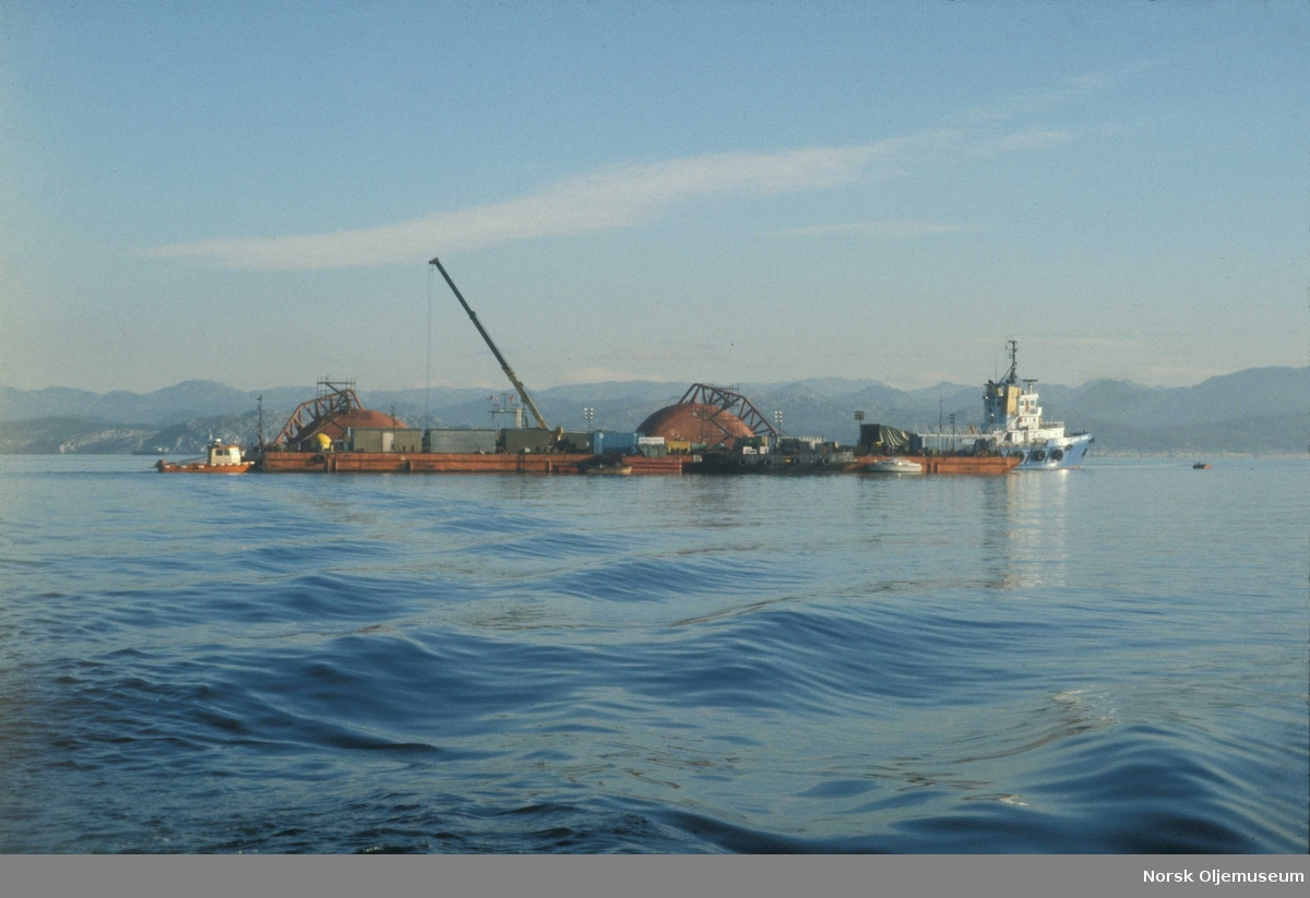 Første snuforsøk av Alexander L. Kielland i Gandsfjorden.