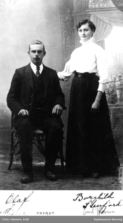 Olaf Løeng og Borghild Stenfjord Løeng