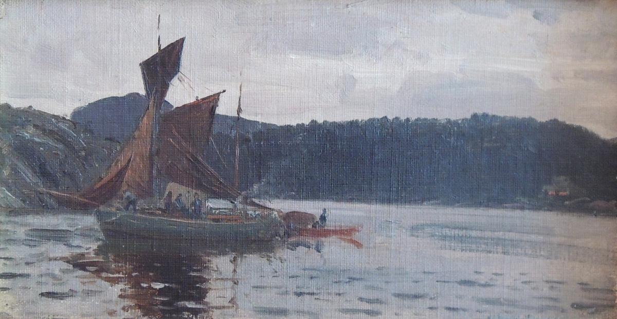 Skjærgård med seilbåt