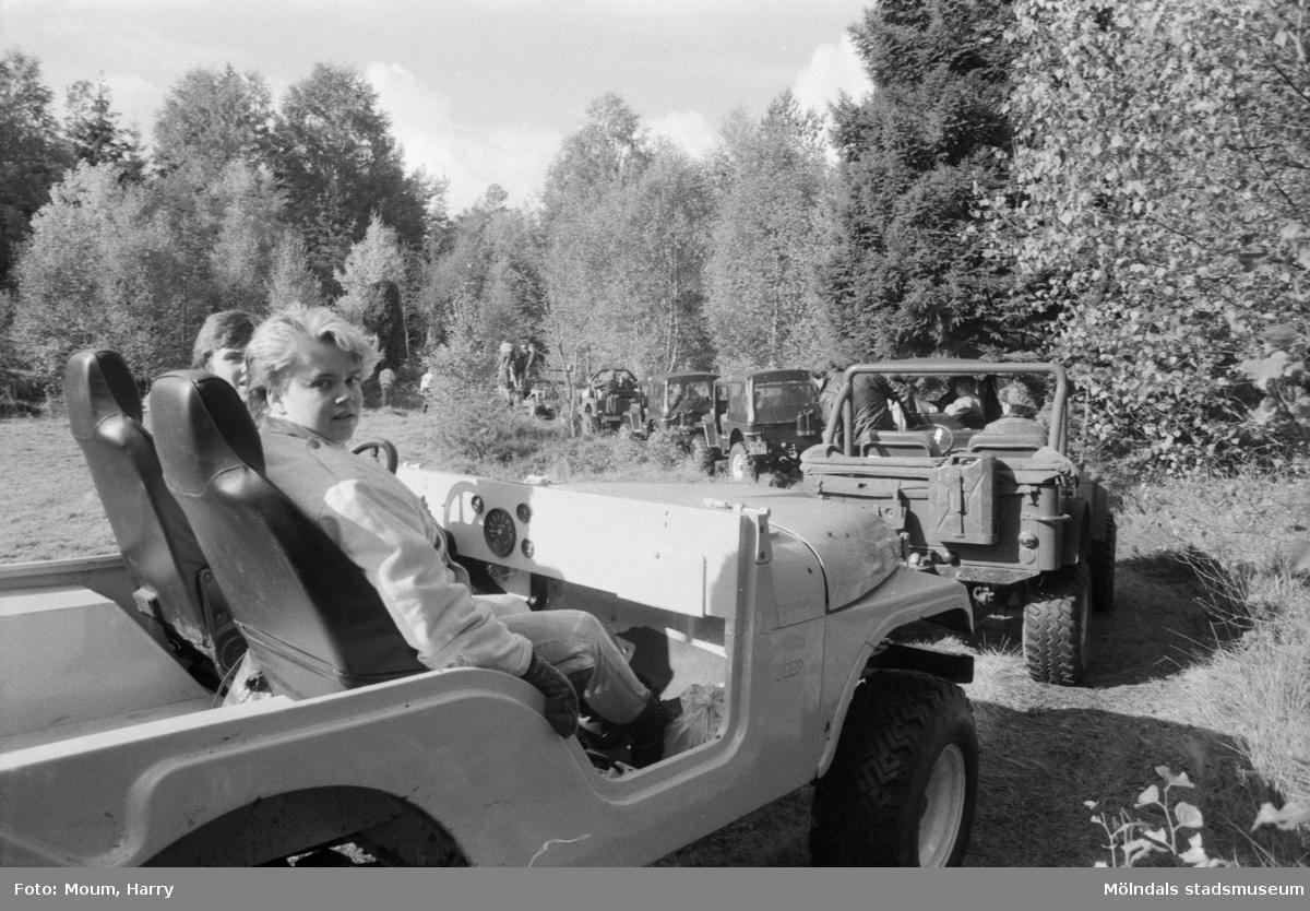 Offroad-tävling i Tågkärr i Kållered, år 1984.  För mer information om bilden se under tilläggsinformation.