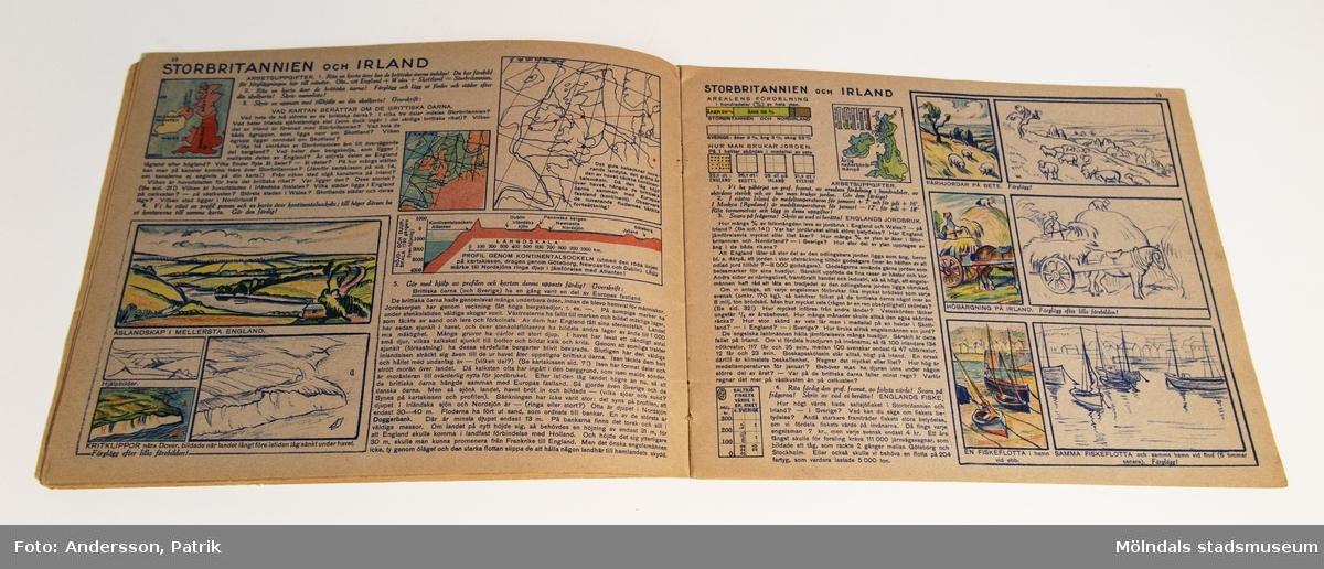 Arbetsövningar i Geografi, häfte 5, av L.G Sjöholm och A. Goes.