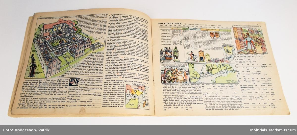Arbetsövningar i Historia, Häfte 1, av L. G. Sjöholm och A. Goes.