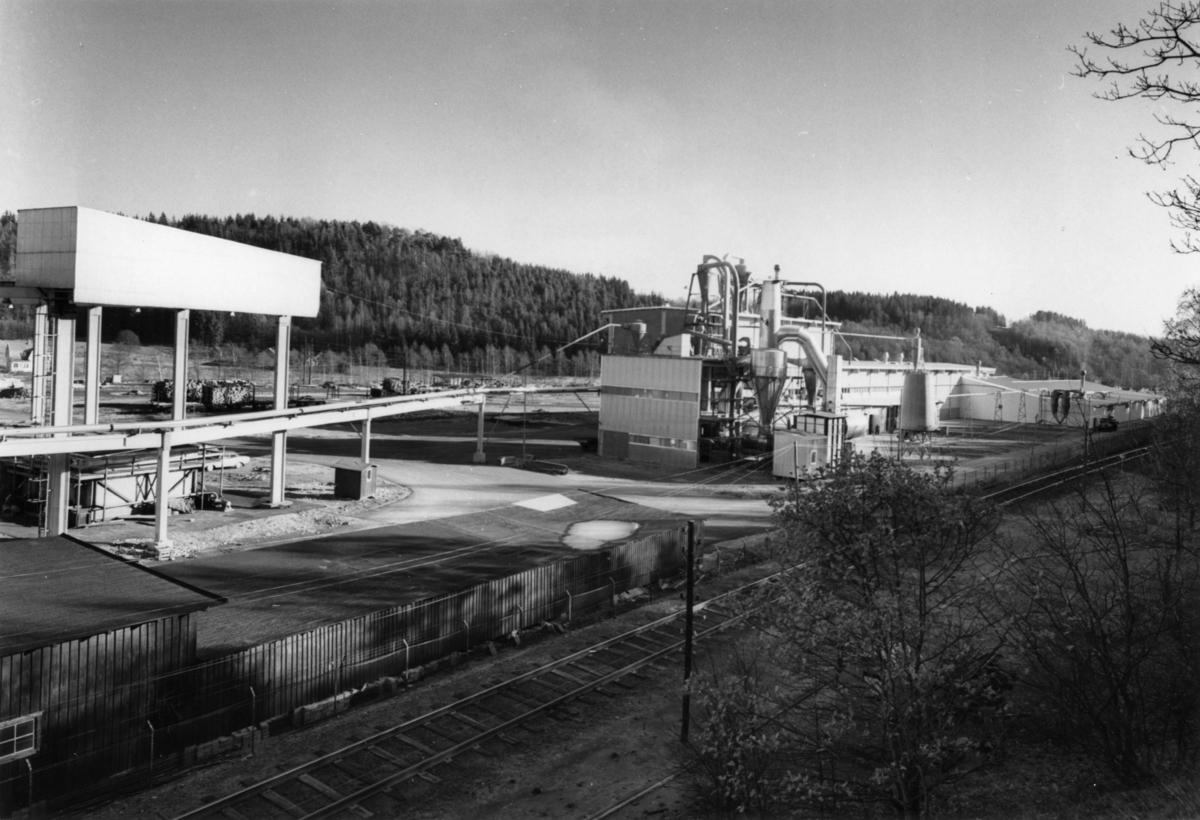 Ry Aktiebolag, spånskivefabriken, Oskarström, exteriör.