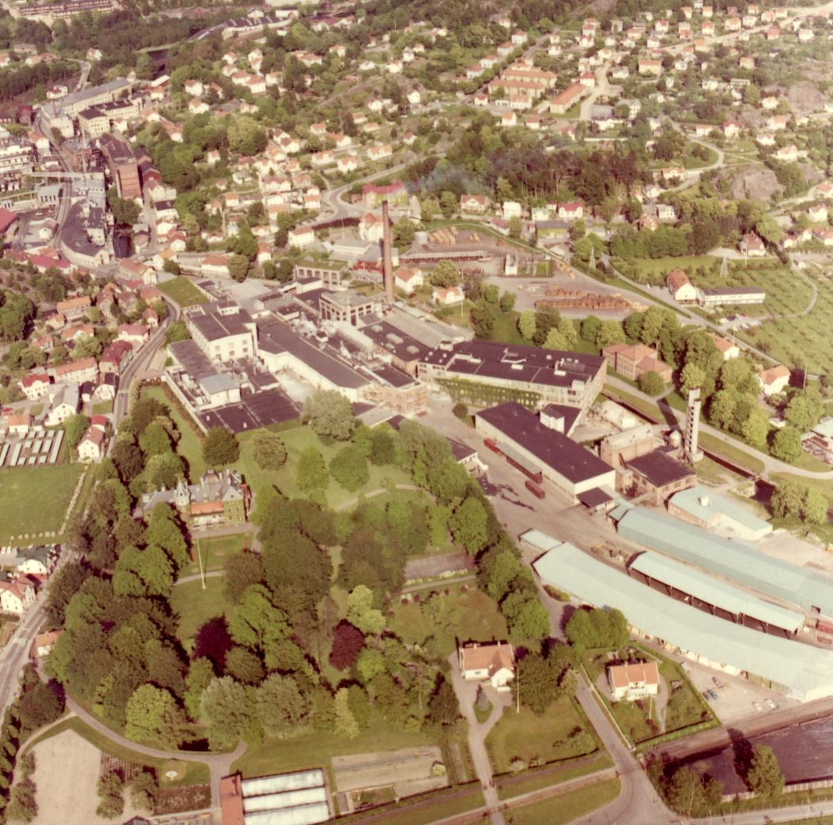 Flygfoto över Papyrus fabriksområde, 9/6-1969.
