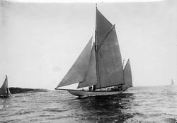 """""""Vendula klar för start dist. segl. Aug. 1920"""""""