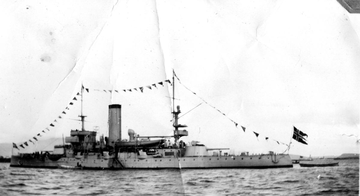 Skeppsgossekåren Minnen från 1927-30 Norska pansarskeppet Tordenskiold