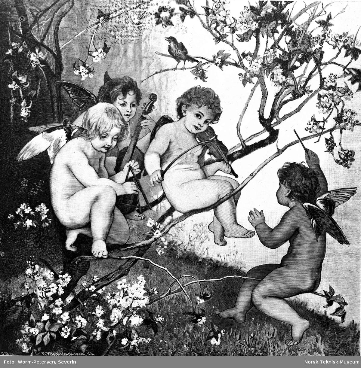 Maleri av Rudolf Henneberg: Frülingsgruss