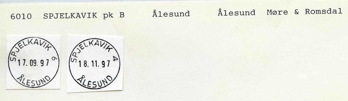 Stempelkatalog  6010 Spjelkavik, Ålesund kommune, Møre og Romsdal