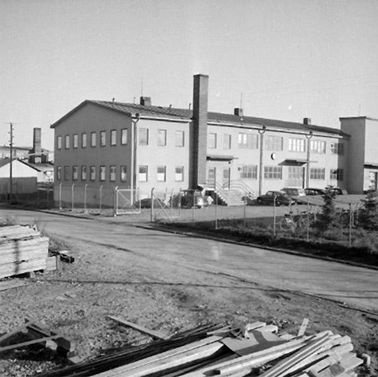 Svenska Klackfabriken, tvåvånings fabriksbyggnad.Stig Öster