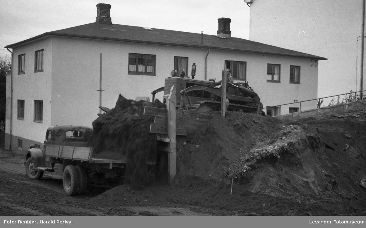 Utbygging av meieriet i Levanger By.