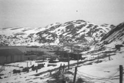 Bilde fra Hammerfest, tatt mot midtbyen og og bydelen Molla.