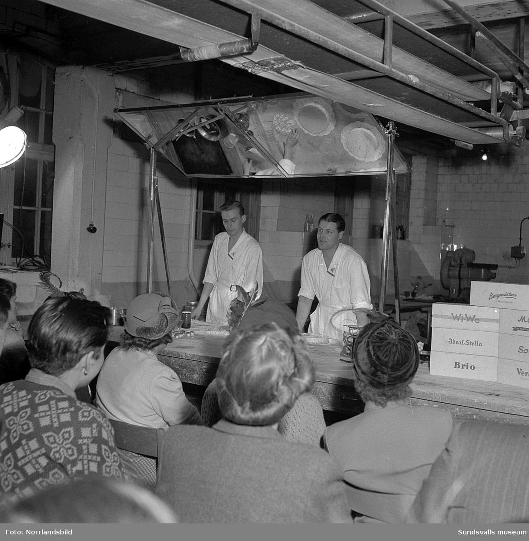 Instruktionskurs hos bageriidkare.
