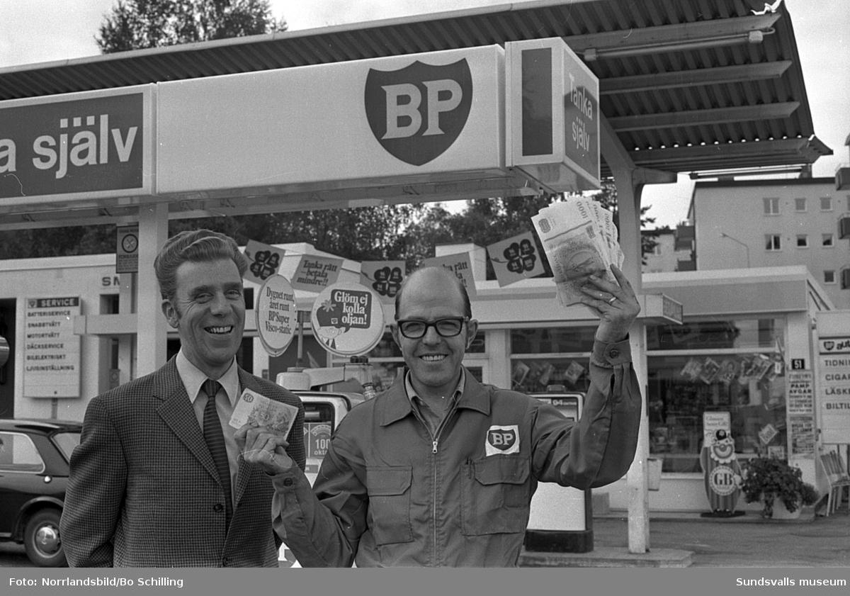 BP-föreståndaren i Timrå jublar över en lotterivinst.