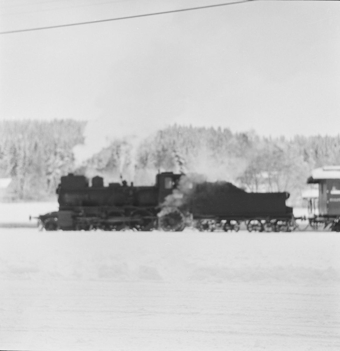 Godstog på Solørbanen trukket av damplokomotiv 27a nr. 234.
