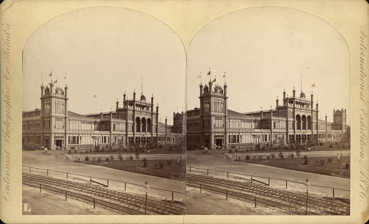 Stereobild från Centennial International Exhibition 1876.