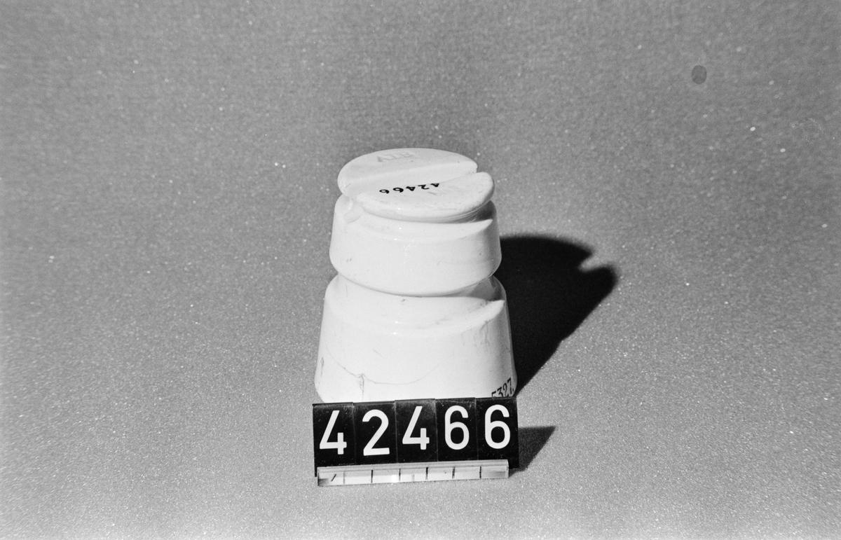 Dubbelkupig isolator av porslin, Allmänna bolagets modell.