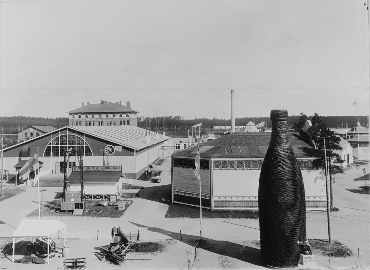 Industri- och Slöjdutställningen i Gävle 1901. Från utställningen Maskin, skogs och glasutställning. Bild från tidskriften Hemmets bildmaterial.