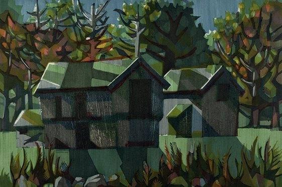 Hus, kirker, trær og fjell er gjennomgangsmotiver. Sigurdsson veksler mellom et figurativt og et nonfigurativt formspråk og lykkes best i moderat abstraherte arbeider, hvor de geometriske, forenklede formene blir brutt opp av fine, duse nyanser.