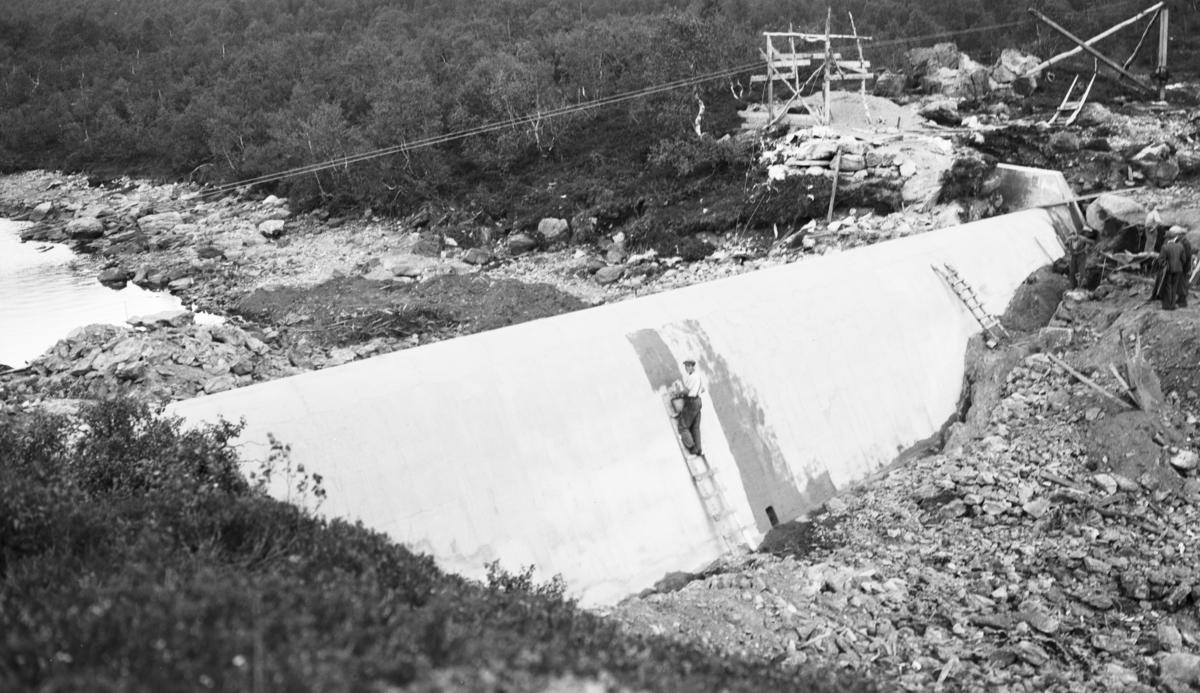 Austefjordvassdragets regulering. Volda kommunale elektrisitetsverk.Foto fra inspeksjon.