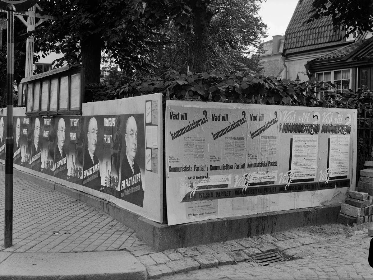 Valaffischer, Uppsala september 1940