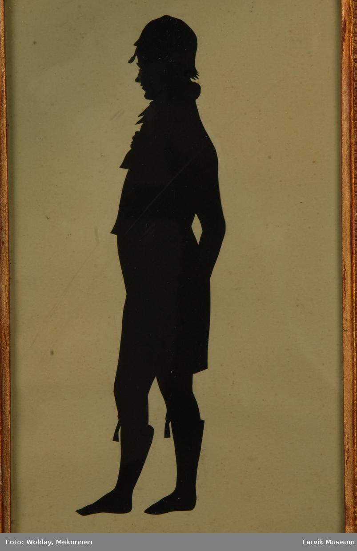 siluett av Claus Bertel Bugge