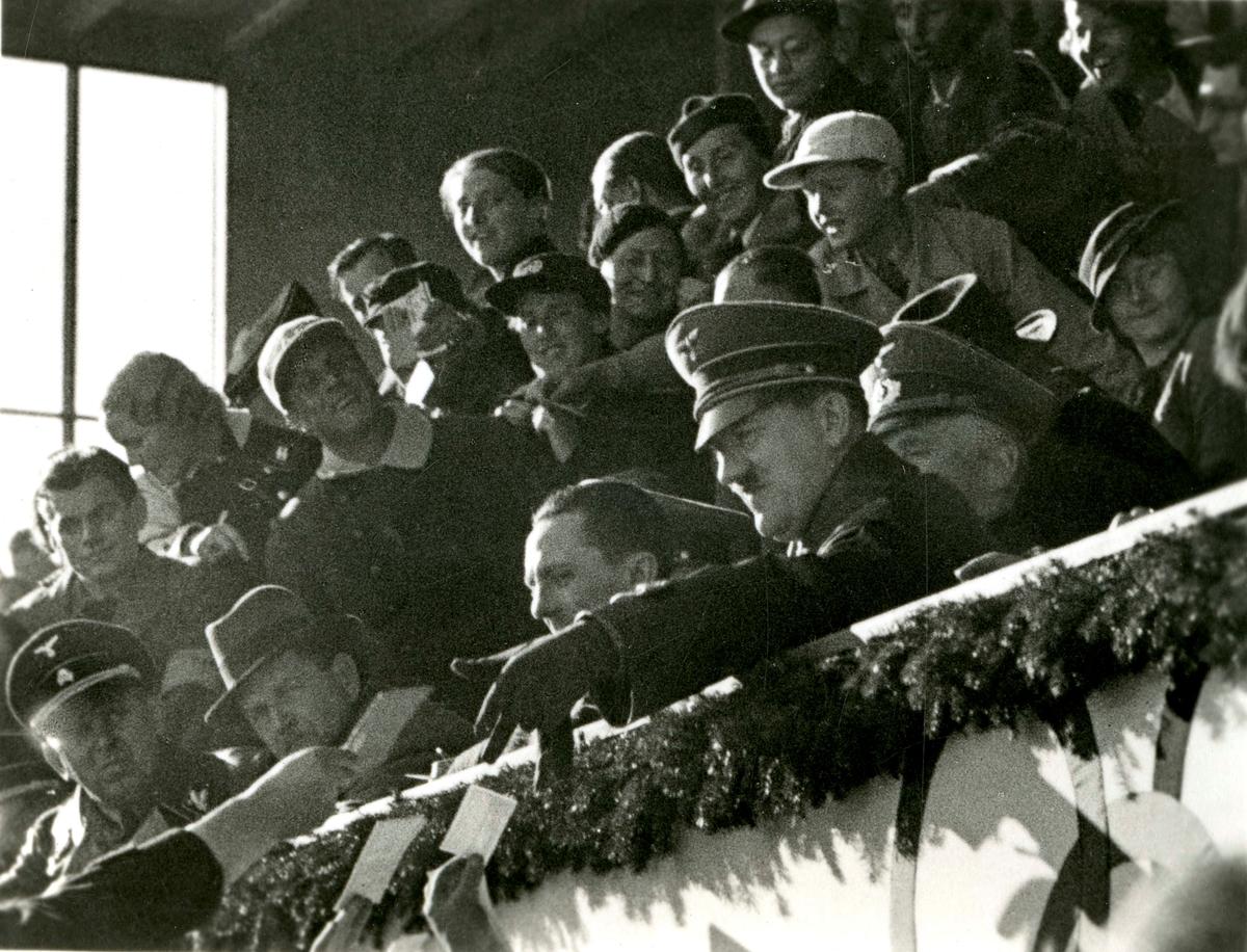 Hitler at the grandstand during OG at Garmisch 1936