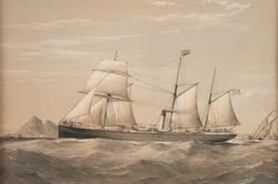 Tremastat skonertriggat ångfartyg