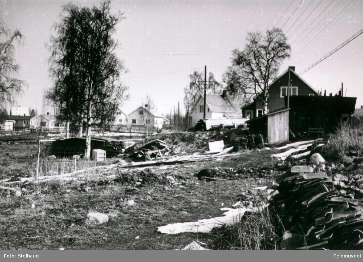 Linjekurs i villabebyggelse på Ottestad ca 1960