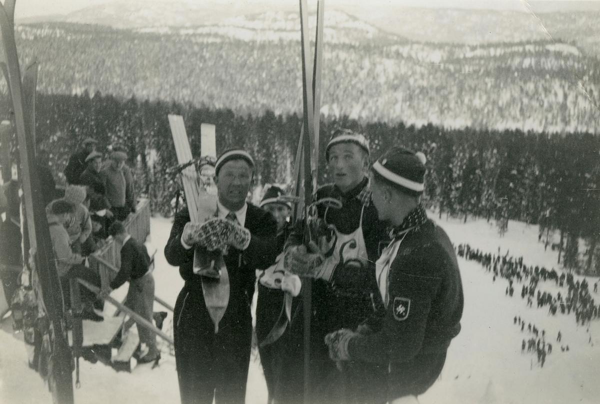 Athletes at the Hannibal ski jump