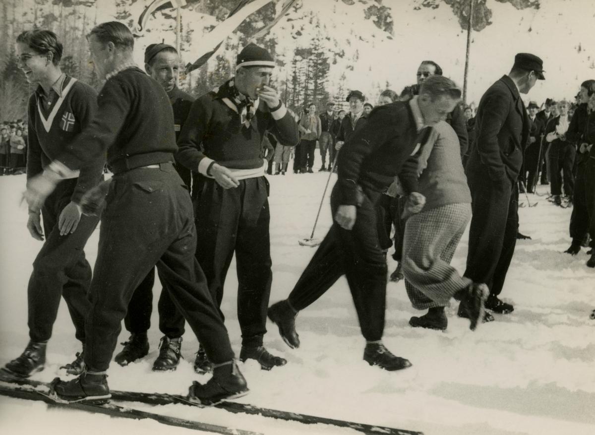 Norwegian skiers at Planica