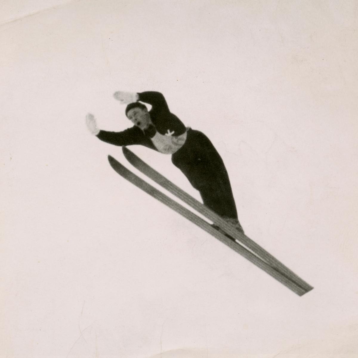 Kongsberg skier Svein Lien in action
