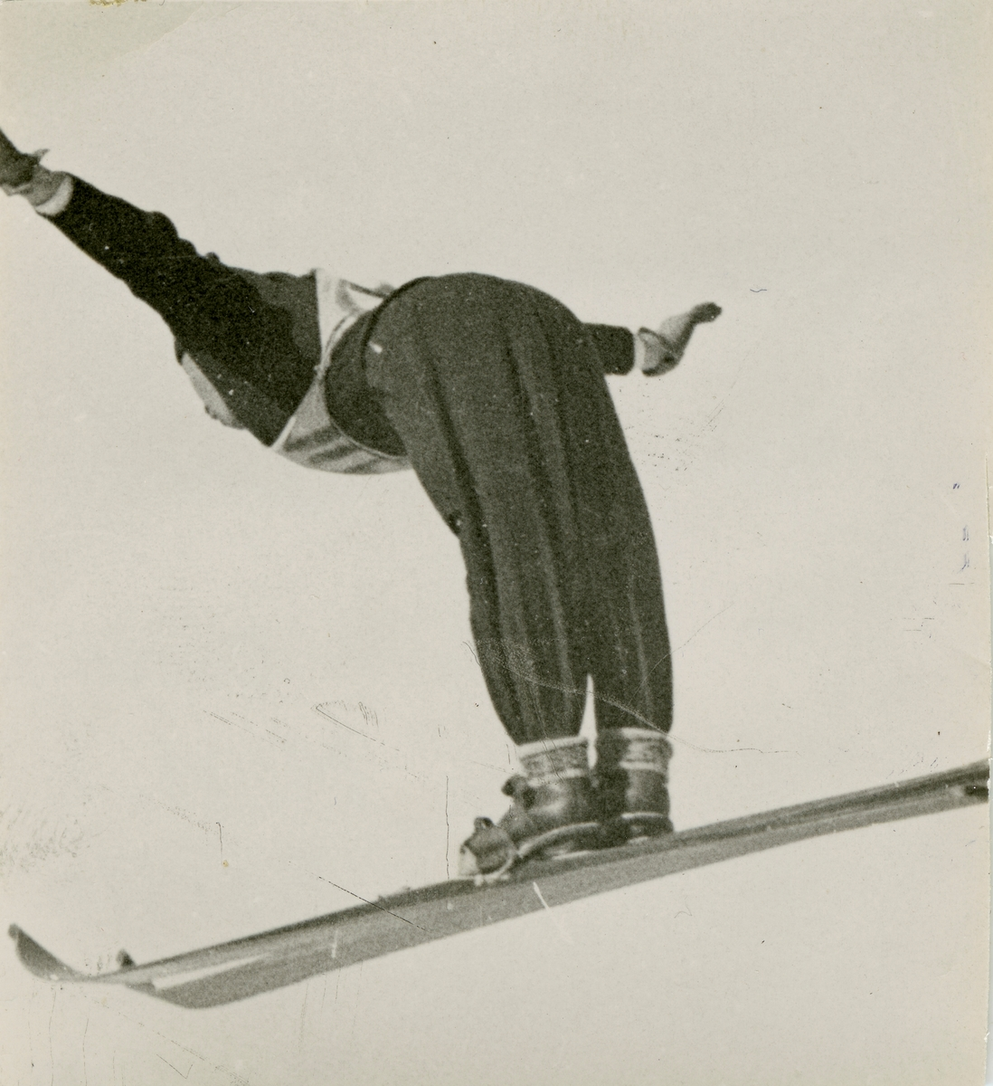 Ski athlete Birger Ruud at Holmenkollen