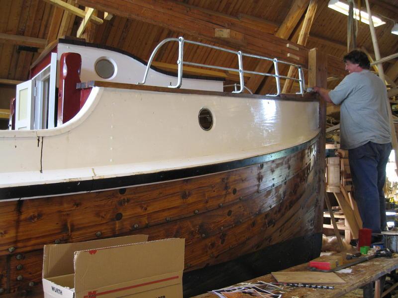 Børsabåten Eivind under bygging. (Foto/Photo)