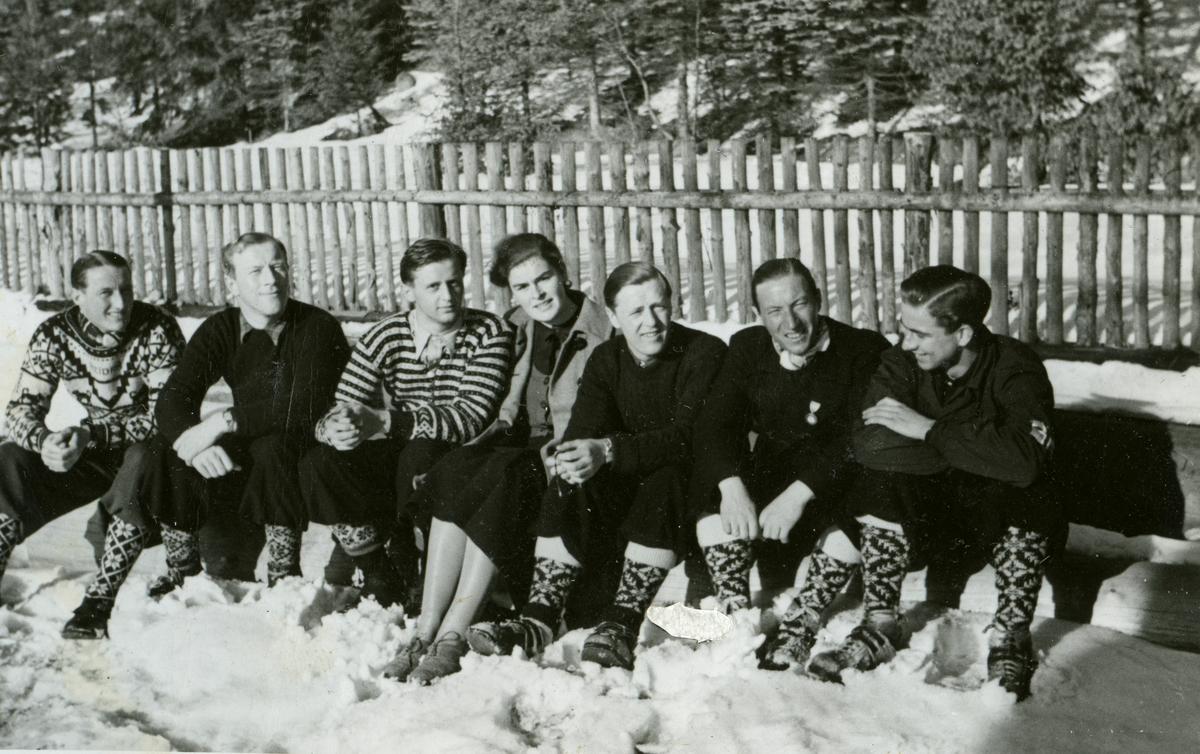 Norwegian skiers in the sun at Garmisch