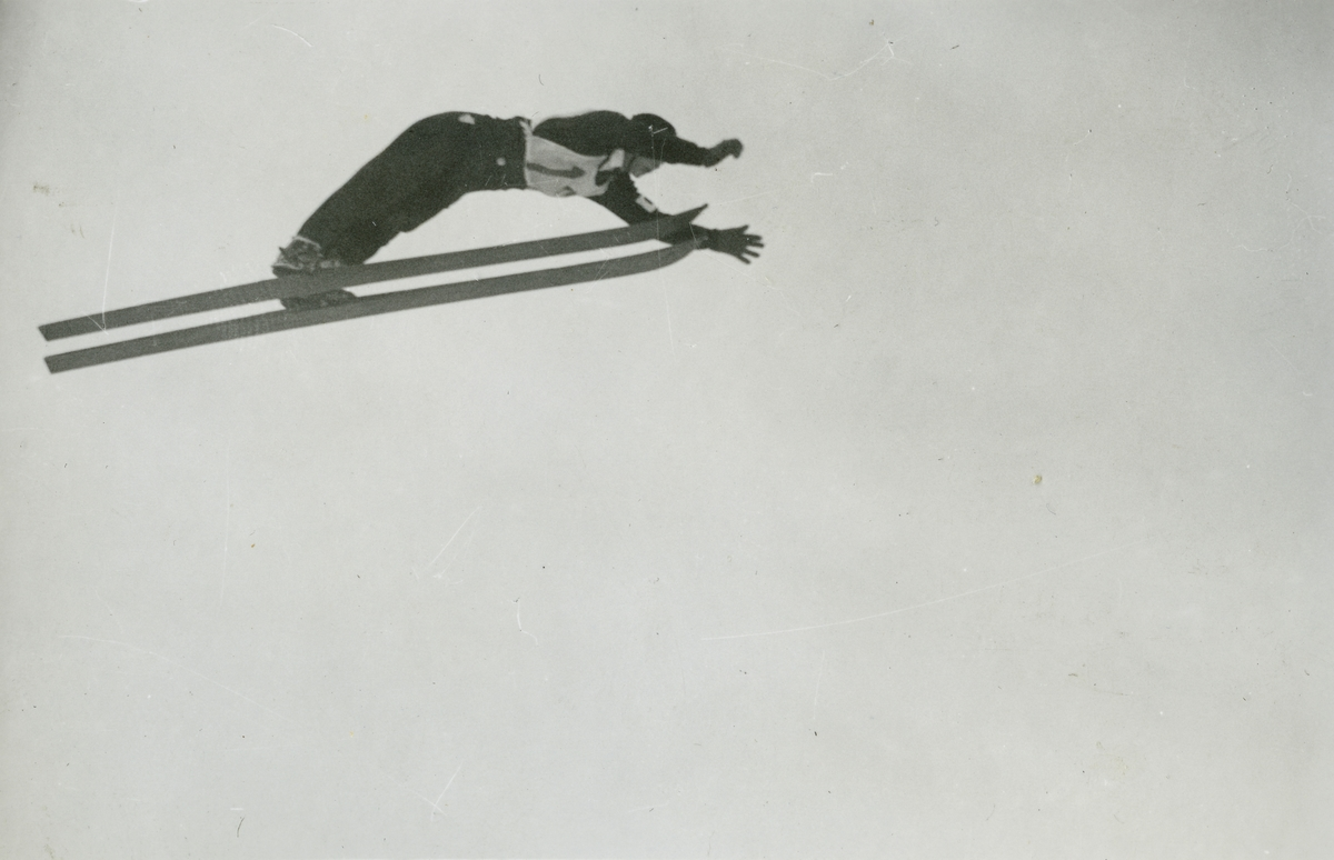 Olympic champion Birger Ruud in action