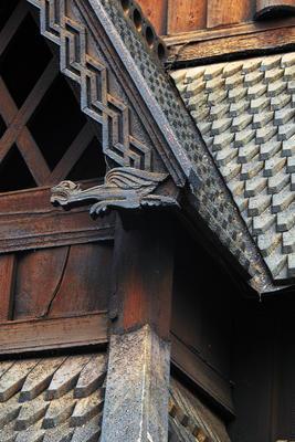 Detail of Stavkirken from Gol