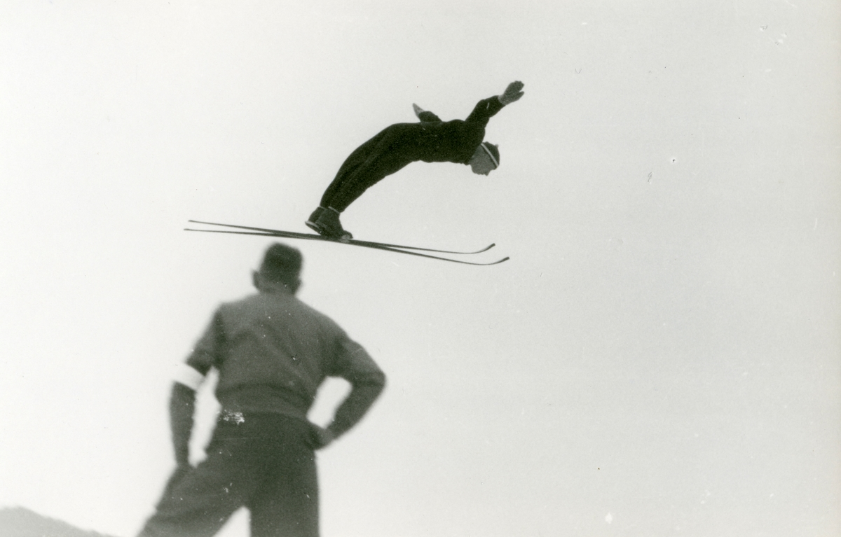 Norwegian skier Arne B. Christiansen during OG at Garmisch
