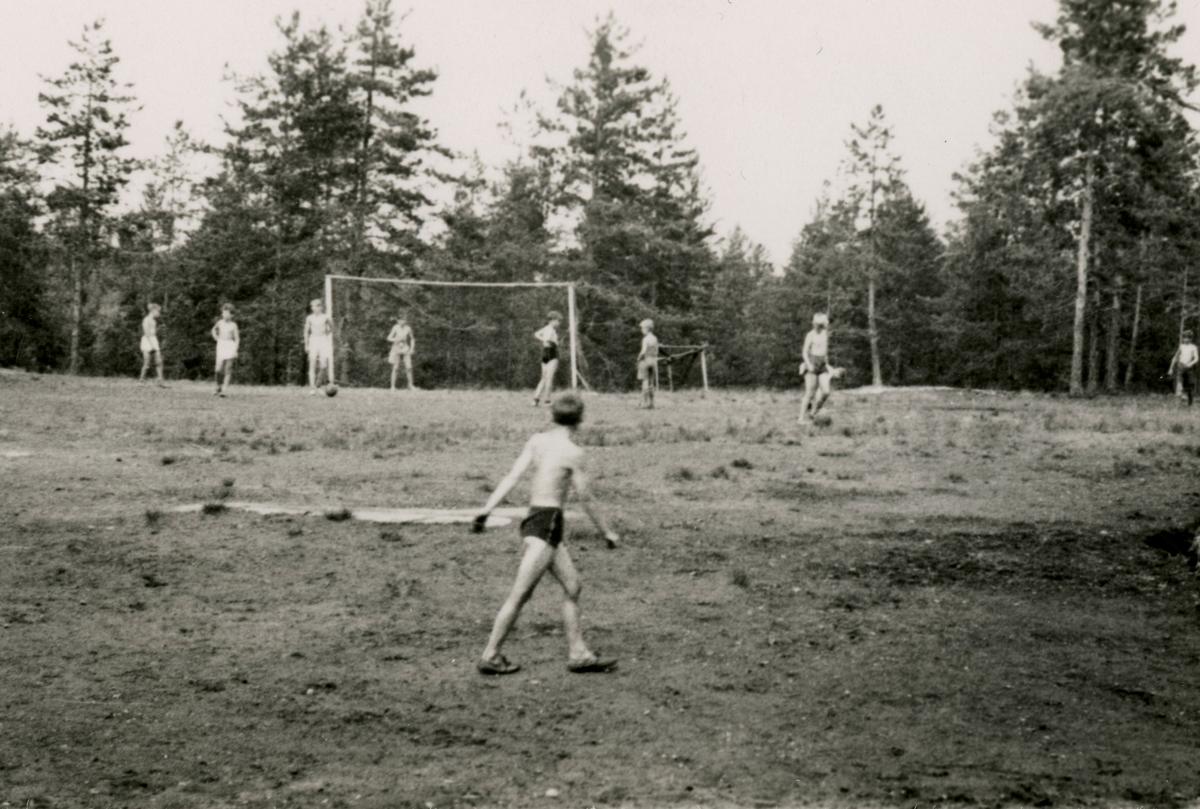 Football playing during summer camp at Kongsberg