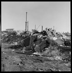 Skrot på vestre område, Eidanger Salpeterfabriker.