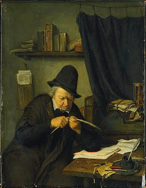 Advokat vid sitt skrivbord
