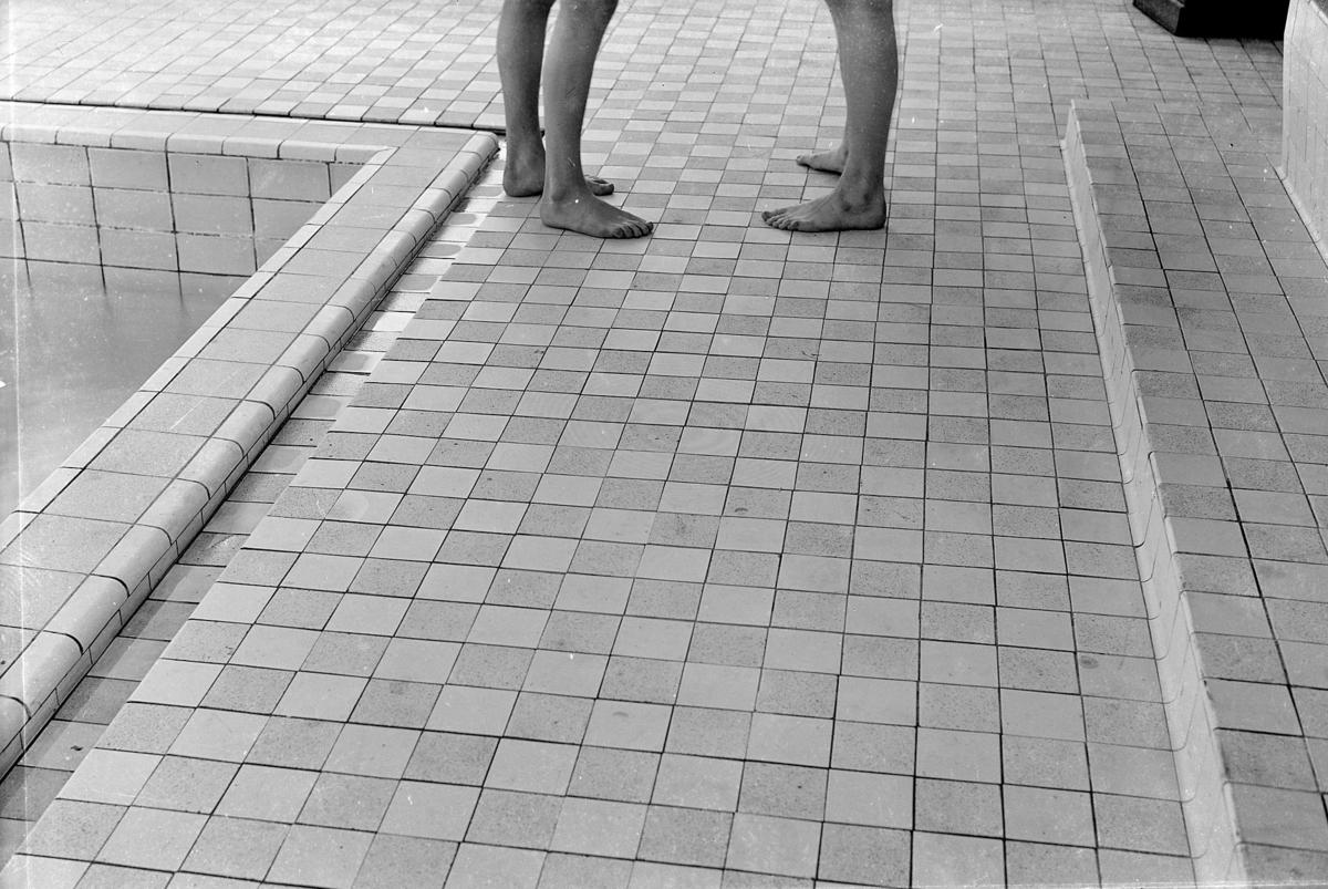 Svenska Telegrambyrån Malmö, golvet i badhuset januari 1940, 14505.