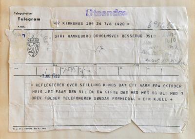 Radiostasjon Ny-Ålesund telegram