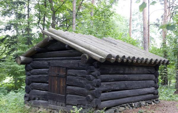 Tømmerkoie fra Åmot. Foto/Photo